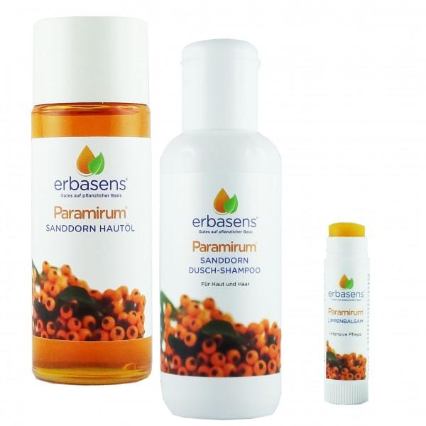 Paramirum® Hautöl + Paramirum® Dusch Shampoo + Paramirum® Lippen-Balsam